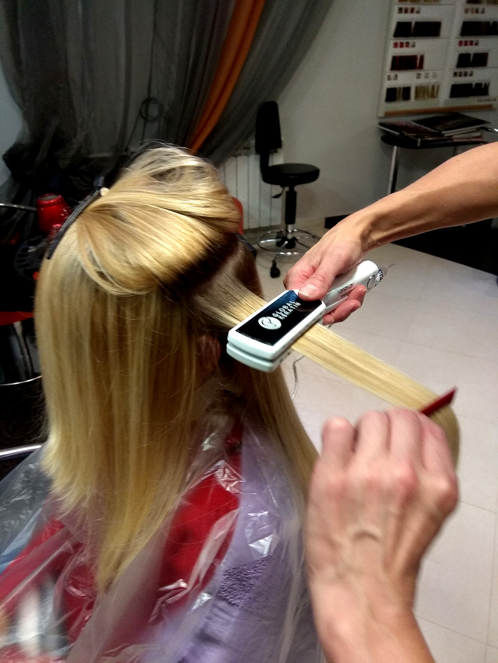 Процедура выравнивание волос Глобал Кератин